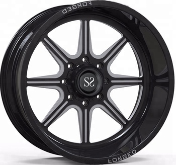 Manufacturer Sae J2530 20 Inch Replica Forged Alloy 4x4 Wheels Black
