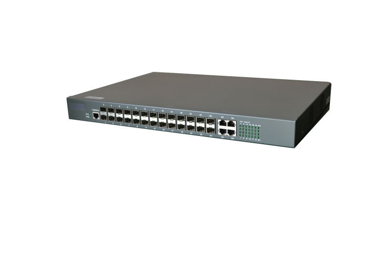 WEB and console managed 24 ports SFP network switch for telecommunication