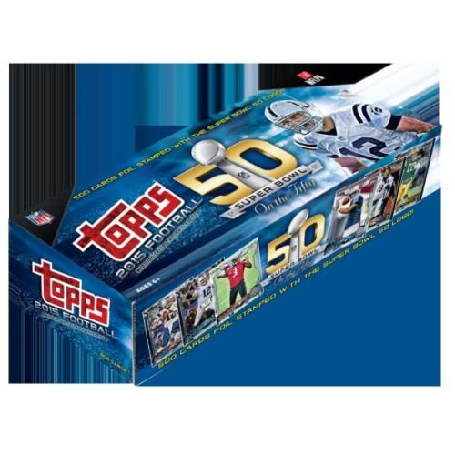2015 Topps 50th Super Bowl Factory Sealed Exclusive Football Hobby Set