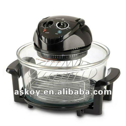 2012 A13 APPROVED 1200-1400W 12Litres Halogen electric oven round (AH-D11 ) with Extender Ring