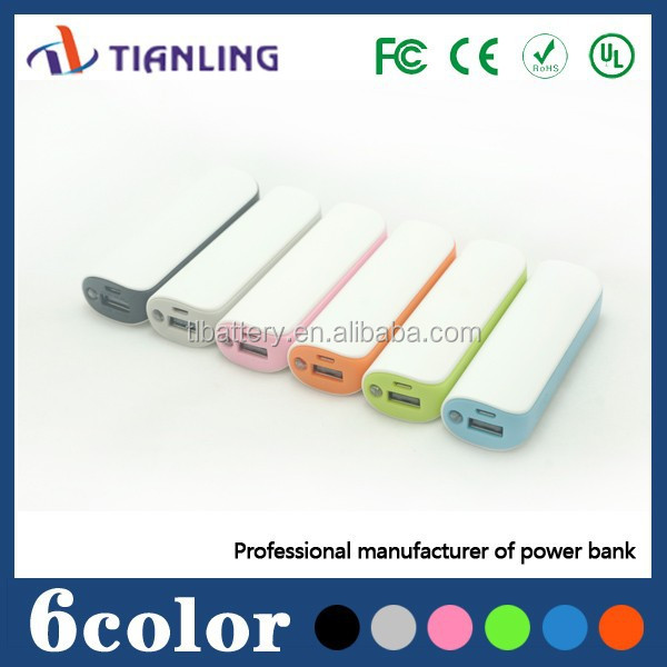 Professional factory price OEM logo plastic 2200mAh mobile phone gift power bank