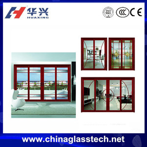 CE certificate tempered glass aluminium alloy frame mexin door