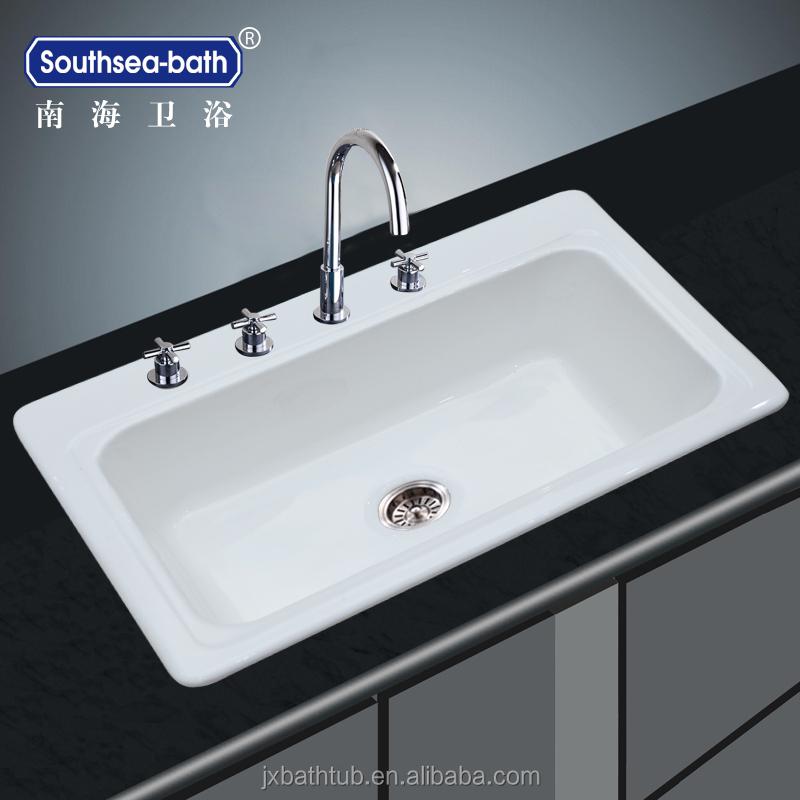 Single Bowl Cast Iron Enamel Kitchen Sinks Prices Modern Kitchen ...