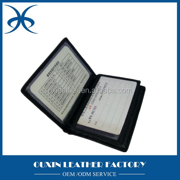 hot sell genuine leather driving licence bags with embossing logo &large space, chepest price certificate cover case holder