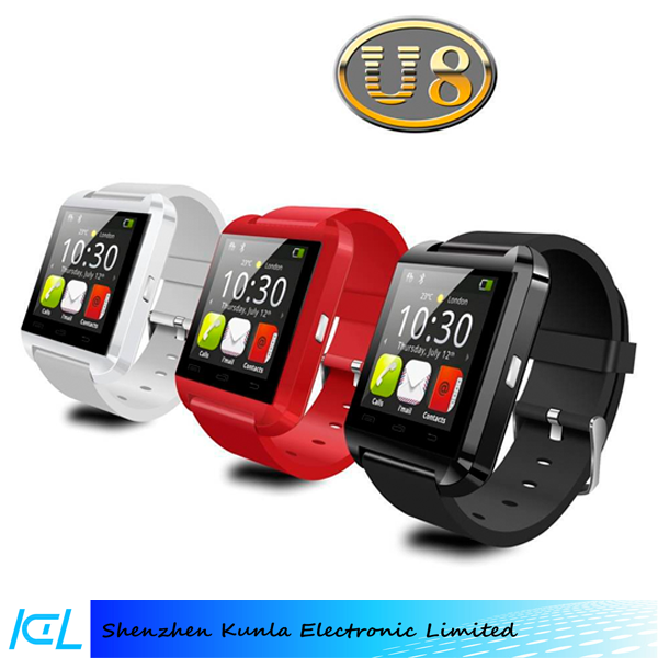 2015 bluetooth wristband U8 smart watch for all mobilephones