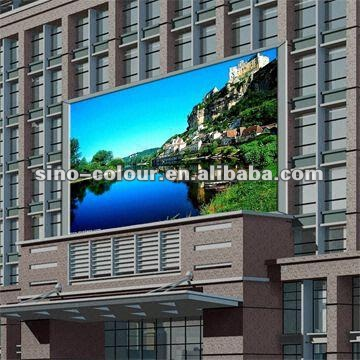 Full color P12 outdoor RGB led display board for advertisement rental mobile video billboard