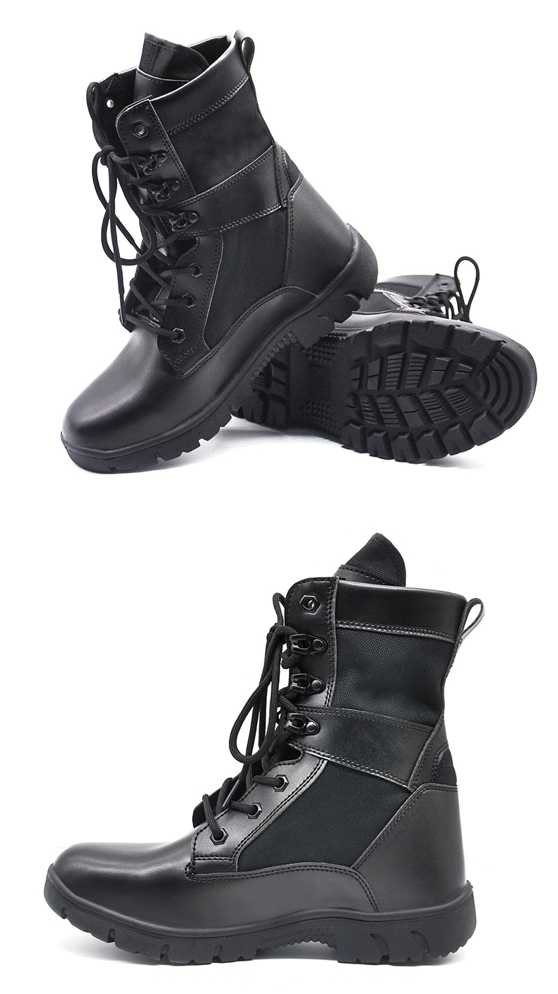 Manufacturer New Type Lace Up Army Footwear  Lightweight Water-resistant Combat Leather Boots