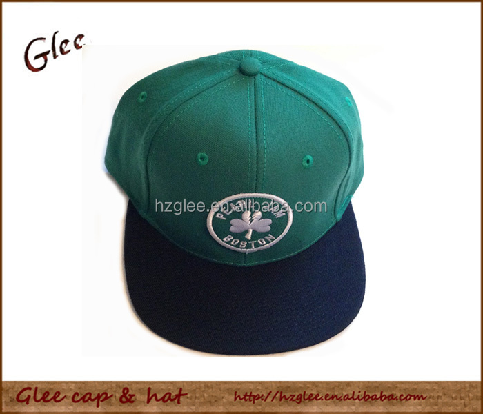 Boston Green Color Themed Snapback Hat