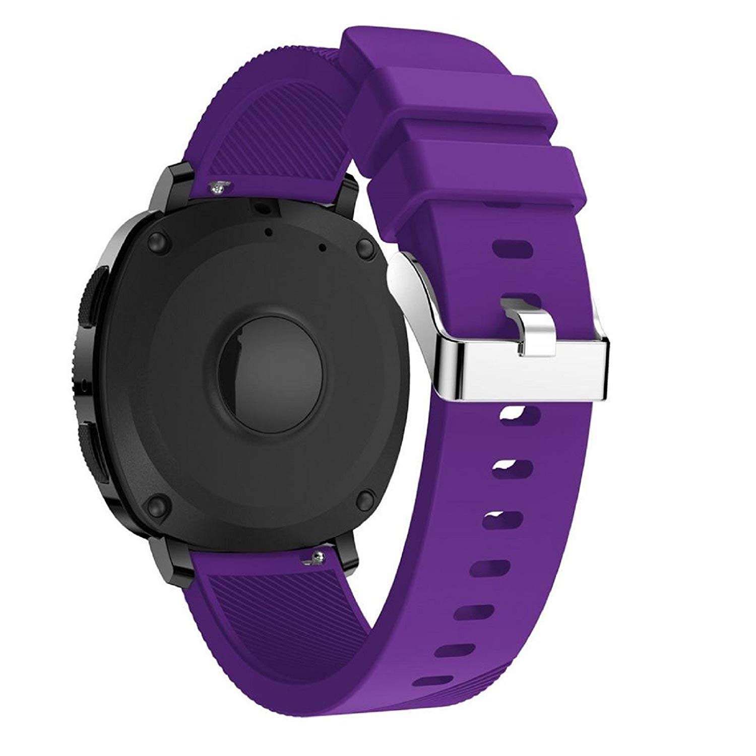 Owill Sports Soft Silicone Replacement Wristband Wrist Strap For Samsung Gear Sport/ Stainless Steel Pin and Tuck Closure (Purple)