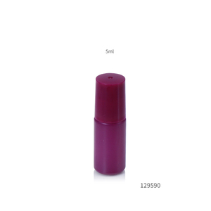 2019 hot sale Gemstone Roller rainbow colored glass roll on bottle 5ml thick glass bottle