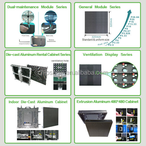 Chipshow high quality indoor full color led display P6