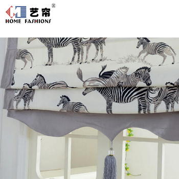chinese style curtains factory zebra pattern Roman blinds