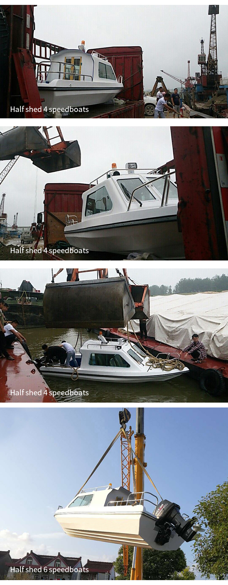 Cabine 4 Assentos de fibra de vidro de alta velocidade pedal caiaque de pesca made in China barriga china 580 rib barco inflável do pvc