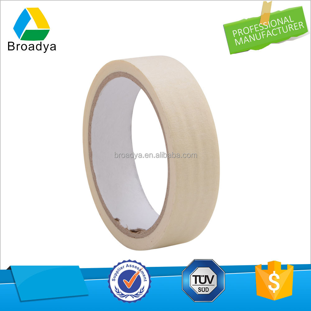 Free sample competitive price jumbo roll 100 degree resistance Rubber White Masking tape