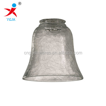 Mouth Blown Bell Shaped Clear Crackle Glass Lamp Cover Light Shade Pendant Lighting Buy Glass Shade Crackle Glass Lamp Ceiling Shade Product On