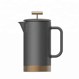 New design 800ml Matte Black Ceramic French Coffee Press with Metal Bottom and Filter