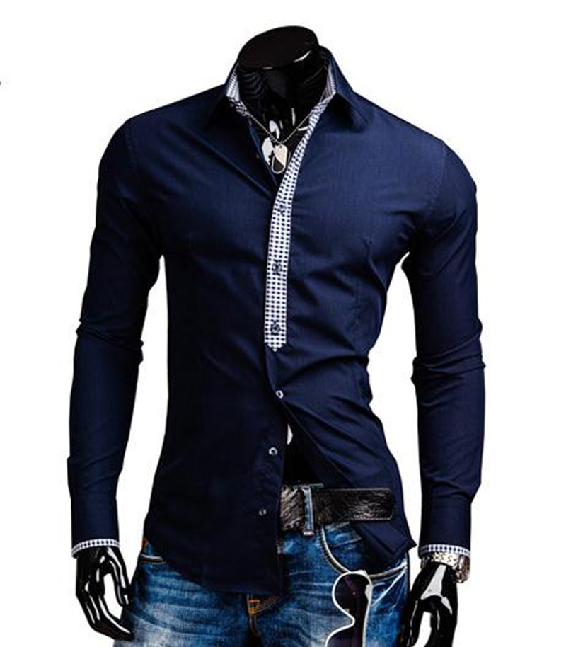 19256c25341 Buy Designer Shirts For Men Top Brand Slim Fit Fashion Dress Shirts Fashion  Long Sleeve Casual Shirts in Cheap Price on m.alibaba.com