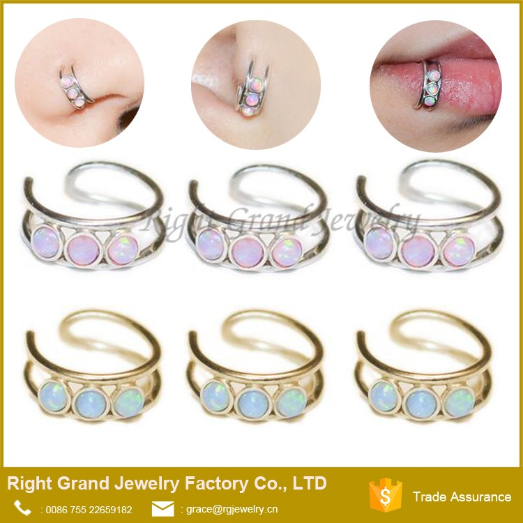 New Design Indian Jewelry Sex Gold Opal Hoop Nose Ring Nath - Buy ...