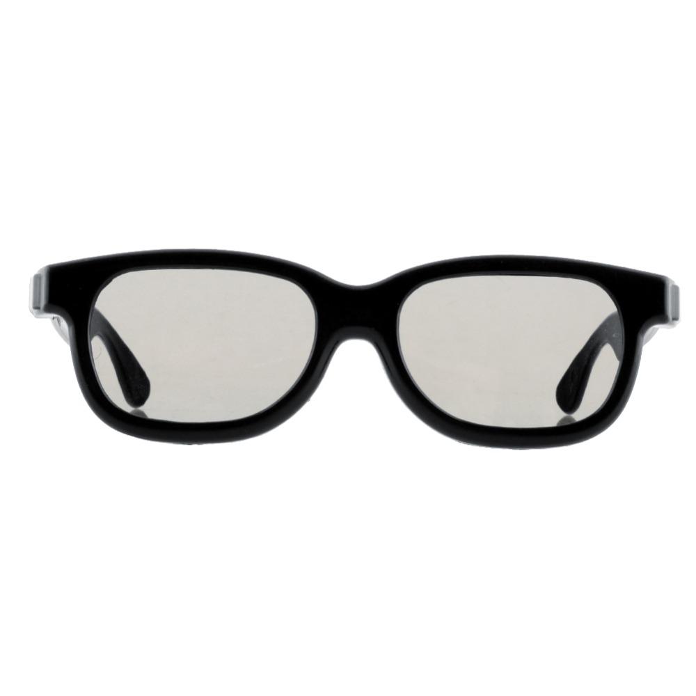 dd0a85628d Alta calidad Negro redondo polarizado 3D gafas película de DVD de vídeo LCD  juego teatro TV