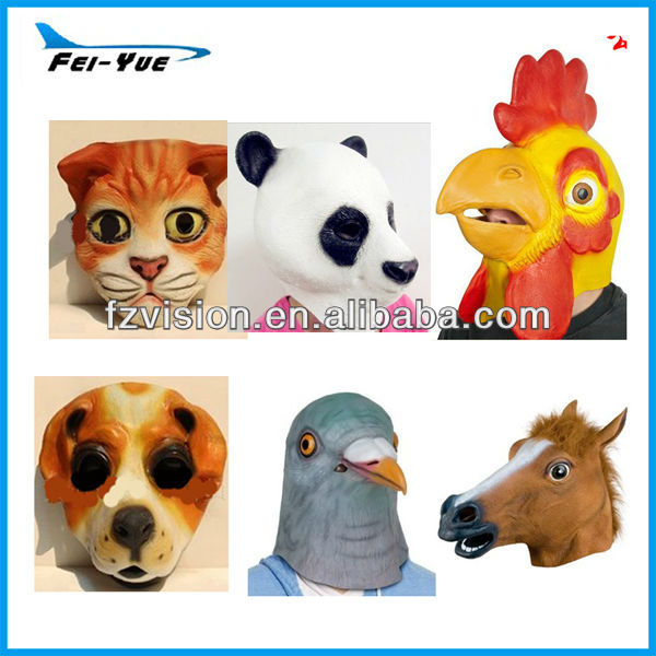 Máscaras de halloween latex personalizada completa cabeza de animal