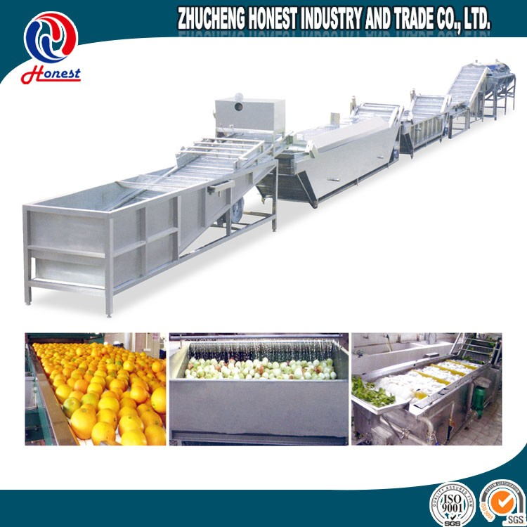 Modern 300Kg Per Hour Pepper Cleaning Machine Price, Vegetable Washing Euipment Cost