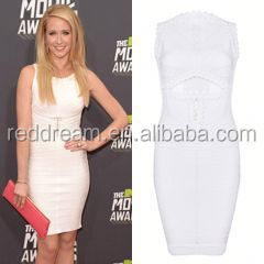 White bandage dress for party celebrity dress 2012