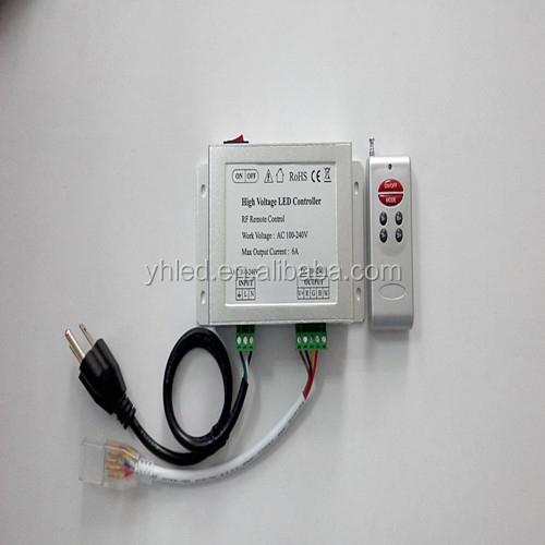 high voltage 110v 220v rgb led controller wireless led dimmer 110v-240v