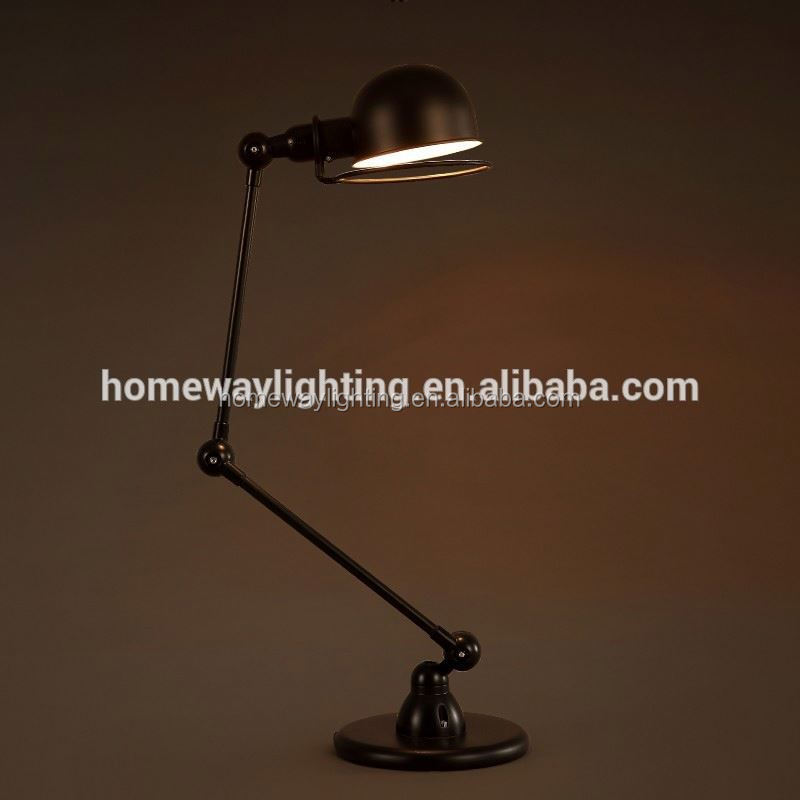 New Technology 2014 adjustable carrefour products table lamp green ROHS approval industrial desk lamp