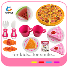 HOT SELLING FAST FOOD PLAYING TOY SET,PIZZA AND DESSERT SET FOR PRETEND PLAY GAME,MINI TEA SETS FOOD KIDS TOY