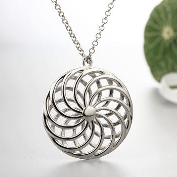 Hollow 3d jewelry fancy design silver 925 flower of life pendant for hollow 3d jewelry fancy design silver 925 flower of life pendant for girls mozeypictures Gallery