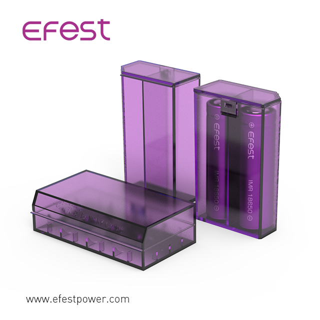 portable 18650 Battery Case /Holder 4 Cell fashionable waterproof case efest 2*18650 battery case
