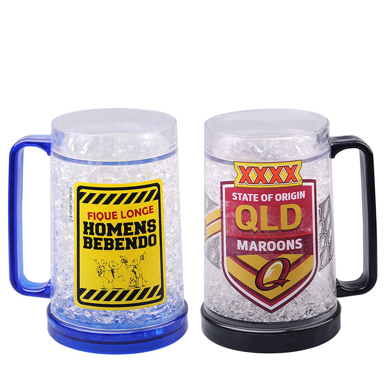 mug freezer 2 pack ice cold beer beverages 14 oz stay fronzen