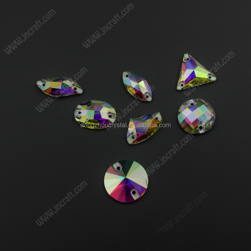 flat back crystal glass sew on Rhinestones