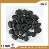 Black stones for landscaping , black polished pebble stone for gardening