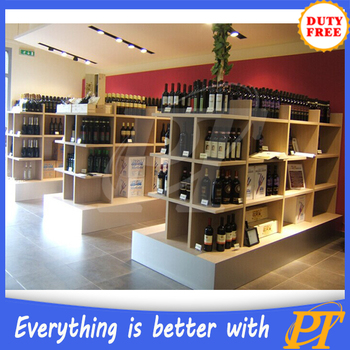 High Quality Wood Liquor Display Rack Wine Racks For
