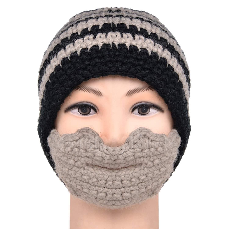 e033e4ba4c9 Get Quotations · VBIGER Beard Hat Beanie Hat Knit Hat Winter Warm Octopus  Hat Windproof Funny For Men