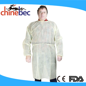 Factory Wholesale OEM Custom Acid Resistant Lab Coat/Plastic Nylon Smock Prices