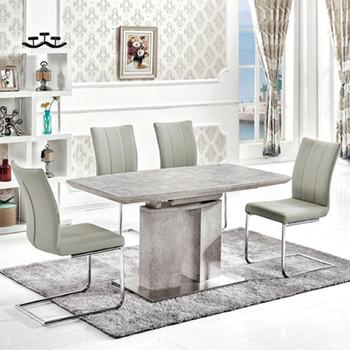 European Modern Mdf High Gloss Wooden Extending Dining Table Set   Buy  Extending Dining Table Set,High Gloss Dining Table Sets,Extention Table  Product ...