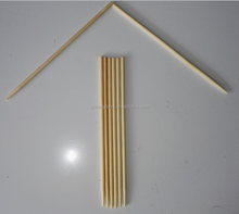 Round bamboo skewer for shish kebab