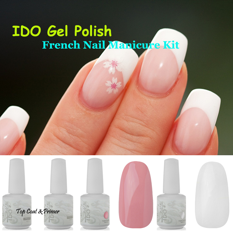 Hot Sale IDO White & Pink Colors Base Top Coat French Nail ...