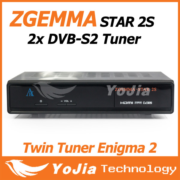 Hot selling Original Zgemma Star 2S Satellite Receiver with Twin DVB-S2 Zgemma-star 2S fta hd receiver 1080p