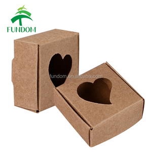 china factory directly mini recycle cheap flat packing die cut small square brown kraft soap packaging craft paper soap box