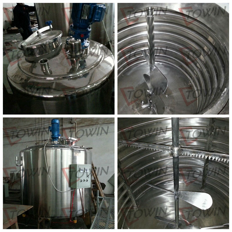 100-10000L stainless steel stainless steel chemical reactor with condenser