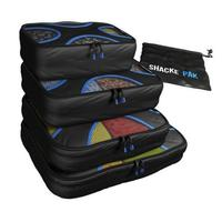 Plastic set of 3 packing cubes with high quality