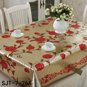 3D Embossed Gold Silver Pvc Tablecloth