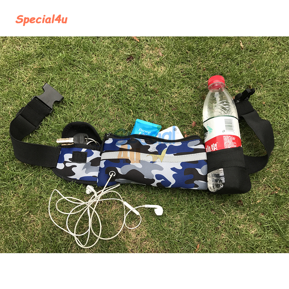 YKSP-301 2017 Hot New Products High Quality Hydration Running Belt With Water Bottle And Phone Pouch, Men Waist Bag