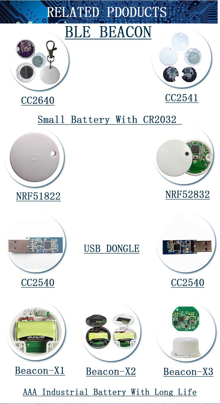 Étanche Petit Bluetooth 4.0 balise ble, iBeacon nrf51822 balise avec Température/Humidité SHT3X