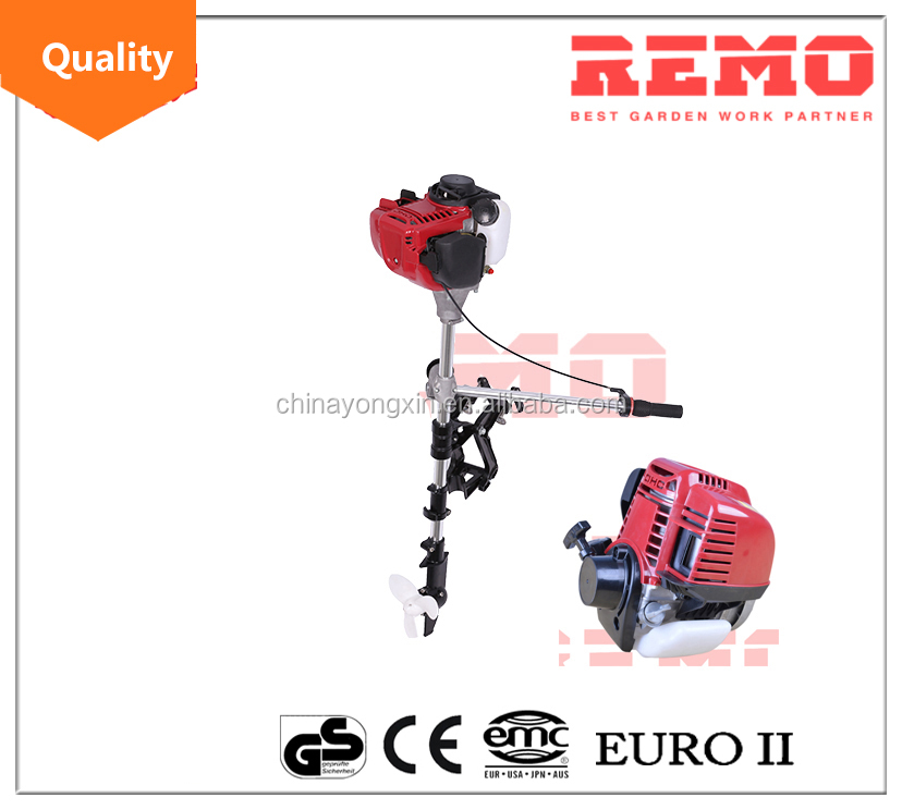 petrol gasoline power outboard motor 4 stroke GX35 boat engine air cooled inflatable fishing use trolling motor
