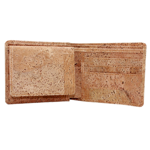 Cork wallet Bosiho new Arrivals lady wallet eco-friendly vegan wooden craft lady wallet