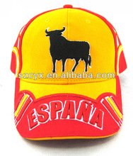 3D embroidery spain baseball cap for fans